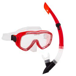 Adult Semi-Dry Diving & Snorkel Set, Coral