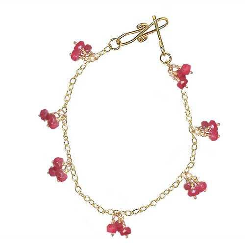 Bracelet 11 - choice of stone - Gold