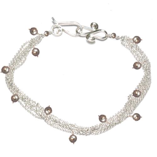 Bracelet 02 - choice of stone - Silver