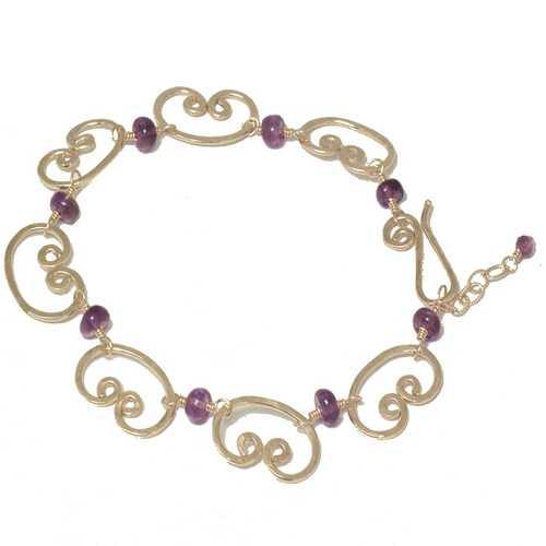 Bracelet 35 - choice of stone - Gold