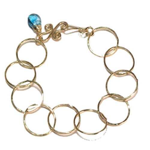 Bracelet 05 - choice of stone - Gold