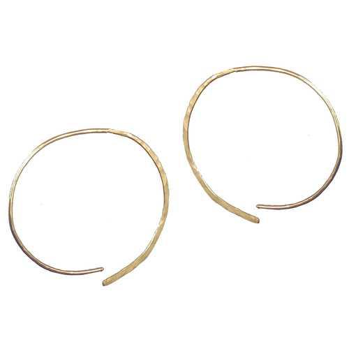 Hoops - Open L - Gold