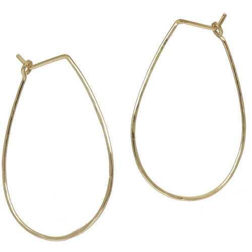Hoops - Teardrop L - Gold