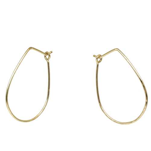 Hoops - Teardrop S - Gold