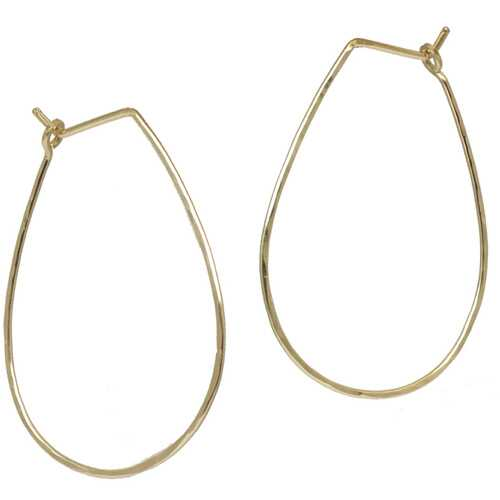 Hoops - Teardrop XL - Silver