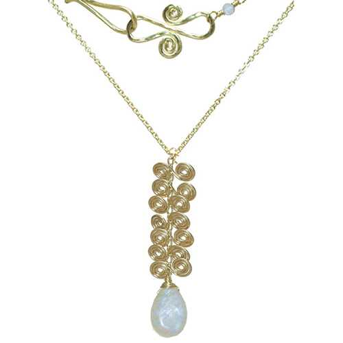 Necklace 213 - choice of stone - Gold