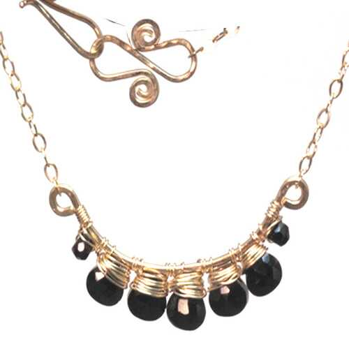 Necklace 235 - choice of stone - Gold
