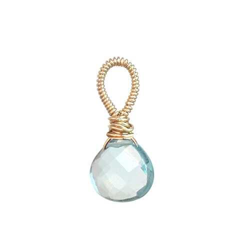 Aquamarine crystal - Silver
