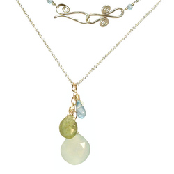 Necklace 1-29 - choice of stone - Silver