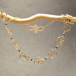Necklace 323 - choice of stone - Silver