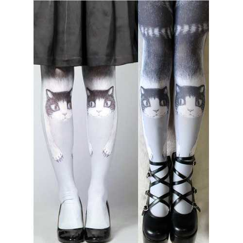 Japanese Kitty White Legging