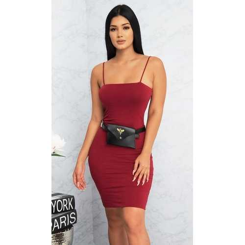Spaghetti Strap Mini Bodycon Dress