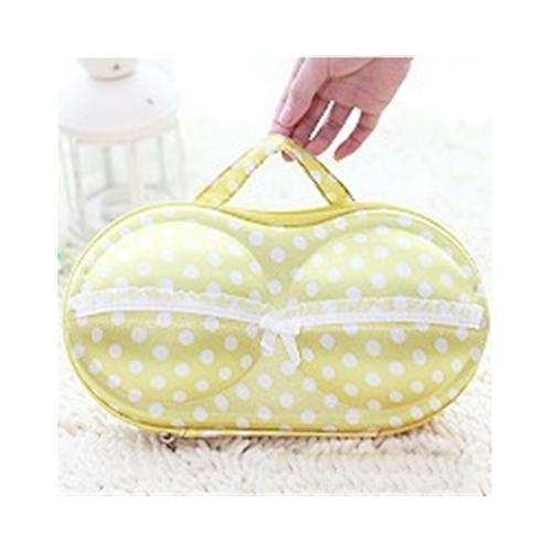Convenient Bra Storage Bag Yellow