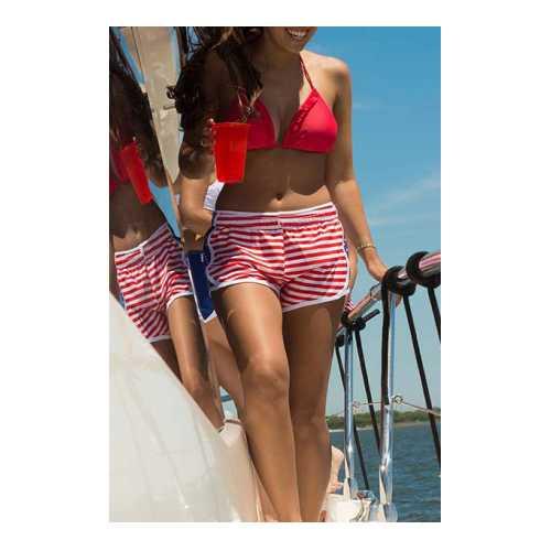 Striped casual beach shorts