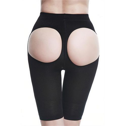 Comfortable Butt Lifter Sexy Trim Cutout Boyshort Black