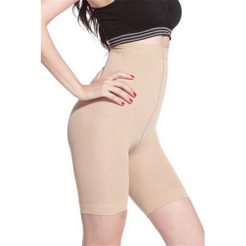 Comfortable High Waist Sexy Body Sculpting Boyshort Nude