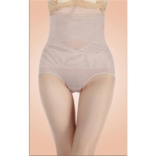 Sexy High Waist Sheer Mesh Hip Looming Underwear Nude