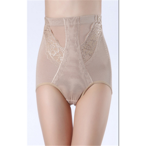 High Waist Lace Ornament Tummy Control Body Shaper Nude