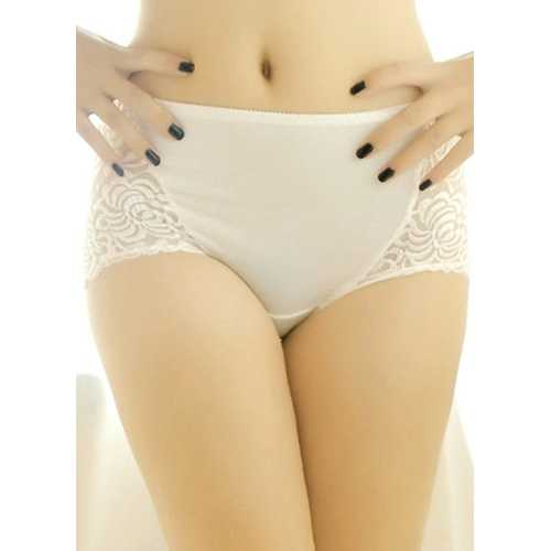 White Floral Lace High Waist Lifter Panty