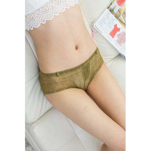 Sensual Women Faux Denim Panties Army Green