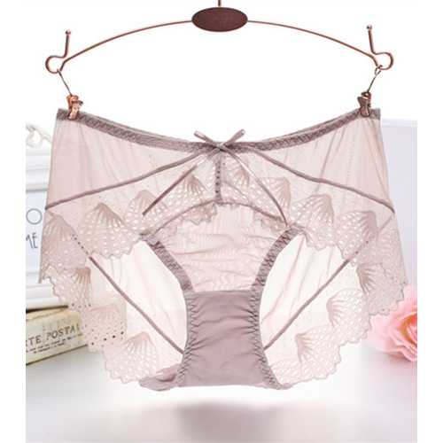 Women Sexy Panties Lace G-String T Pants Khaki