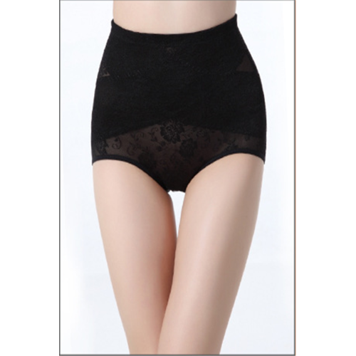 High Waisted Paisley Slimming & Firming Girdle Black