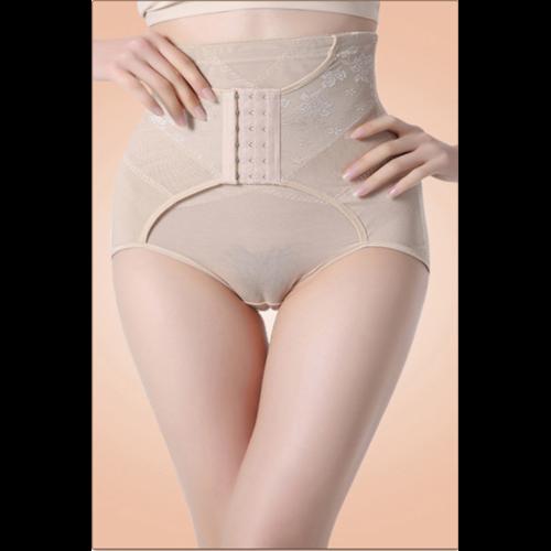 High Waisted White Abdomen Underwear