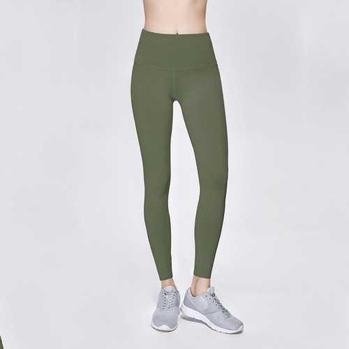 Solid Army Green Women Sport Yoga Pants Leggings