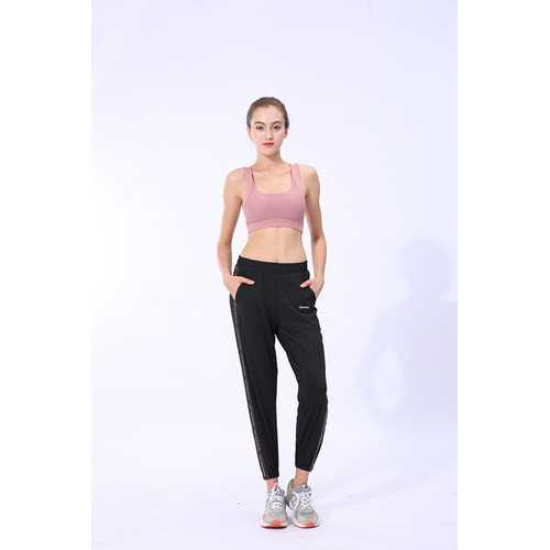 Pink Sports Bra Gathered Yoga Fitness Beauty Back Vest-Style Sports Women Bra