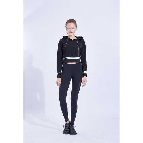 Black Tight High-Elasticity High Waist Sexy Hip Big Size Ladies Yoga Pants
