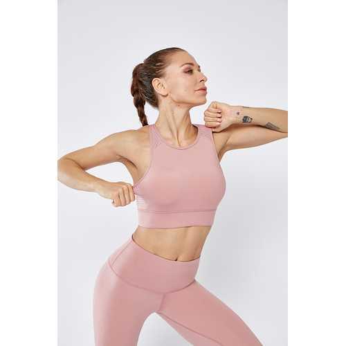 Fitness Shirt Mesh Breathable Sports Vest Women Summer Shock High  Intensity Sports Bra
