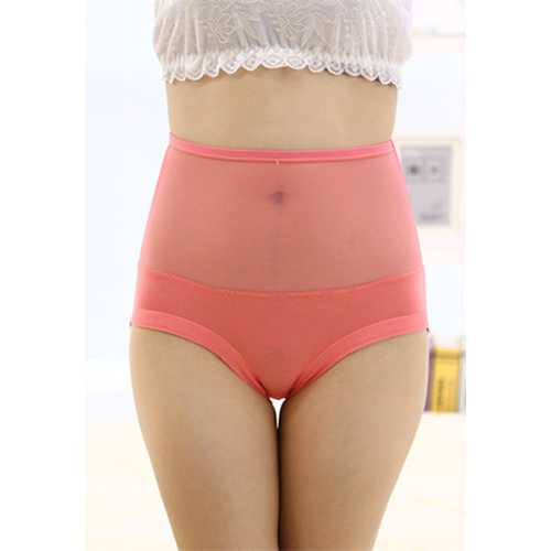 Sexy Women Underwear Seamless Lace Floral Panty Watermelon Red