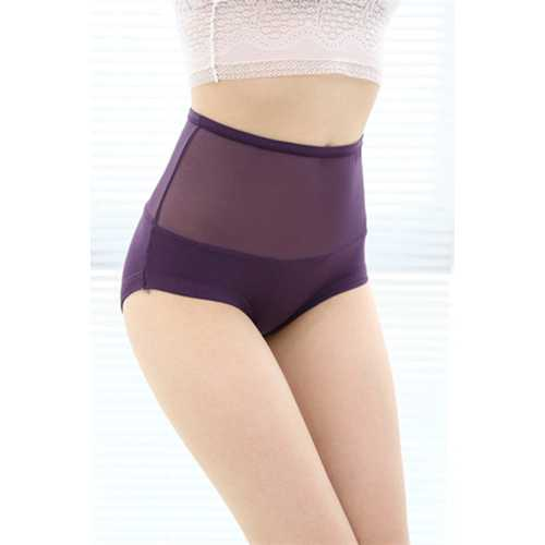 Sexy Women Underwear Seamless Lace Floral Panty Purple