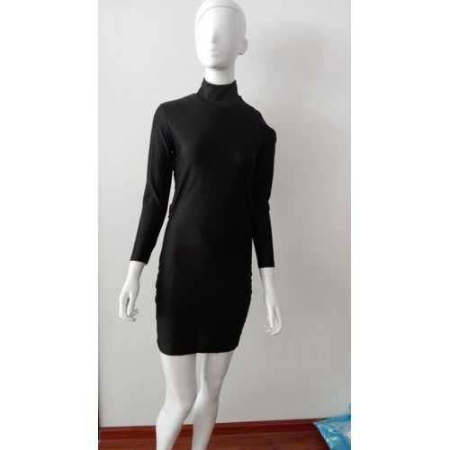 Women Hollow Out Backless Bodycon Dress Black