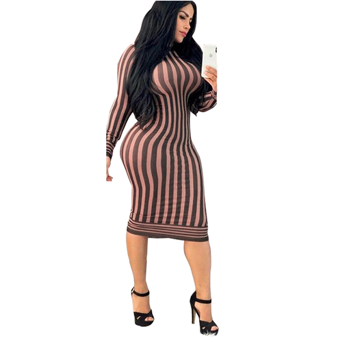 Printed Long Sleeves Women Bodycon dress