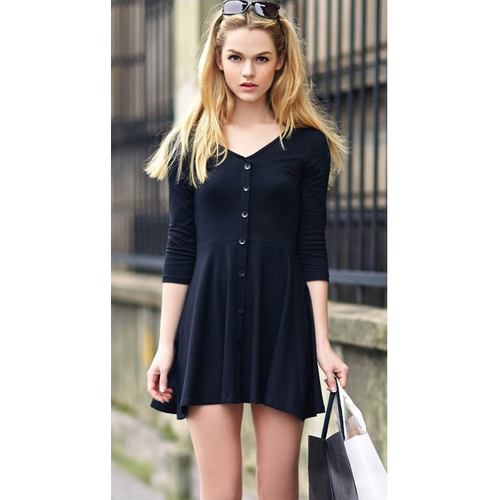 7 minutes of sleeve dress black