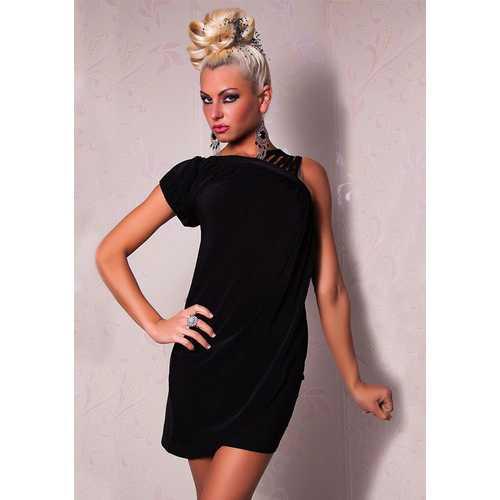 Black Sexy Stripe Clubwear