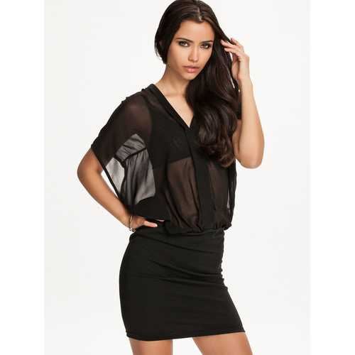 Wholesale Chiffon See-Through Top New Ladies Dress