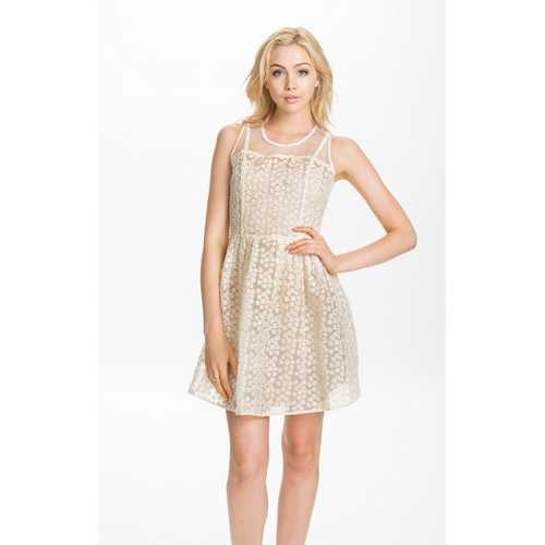 Chiffon wholesale skater dress white