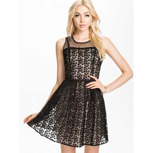 Chiffon wholesale skater dress black