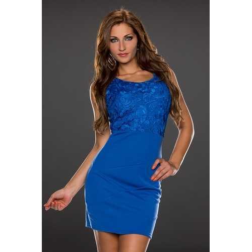 Sleeveless blue club dress