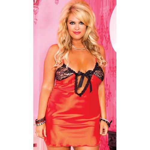 Wholesale Plus size sexy babydoll with Lace Cup