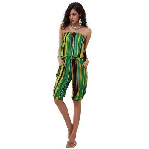 Fashion romper with green streak