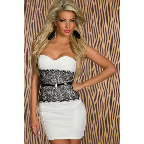 Women Fashion White Club Dress