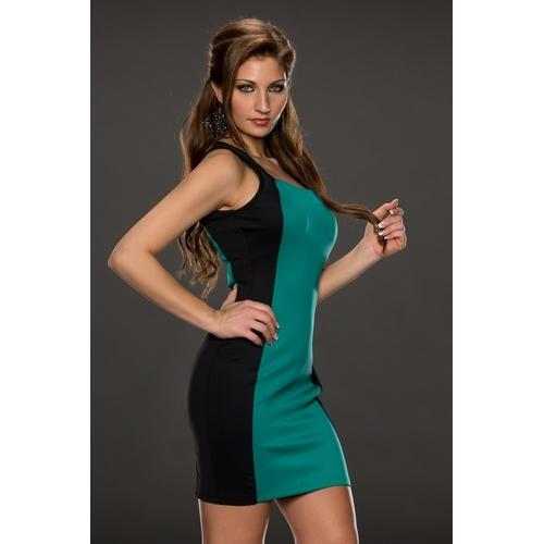 Green and Black Joining Bandage dress