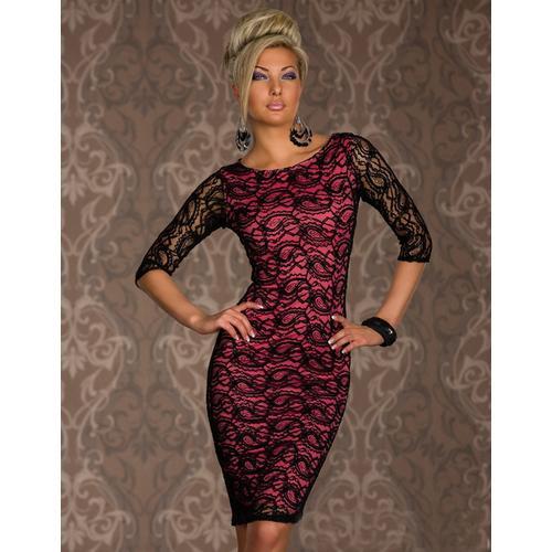 Siren Paisley Lace Midi Dress Red