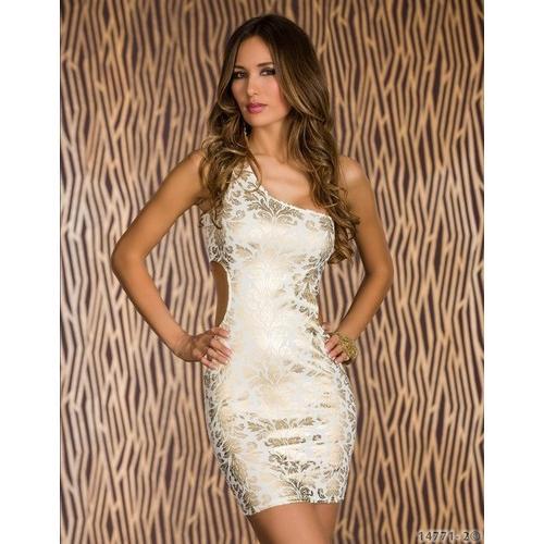 One shoulder sexy mini dress