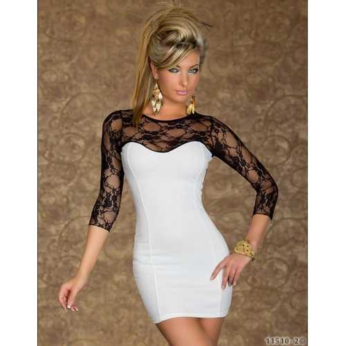 Fashion Lace Dress White