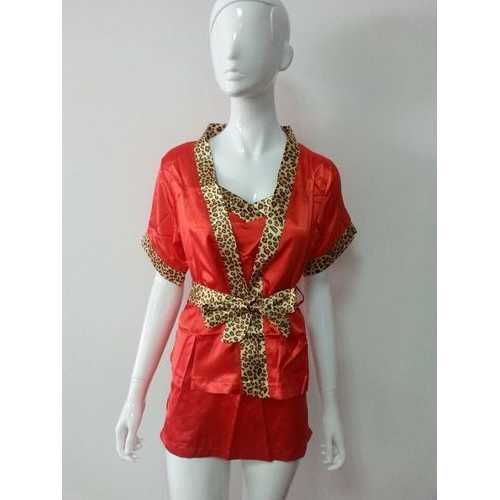 Women Red Leopard Babydoll