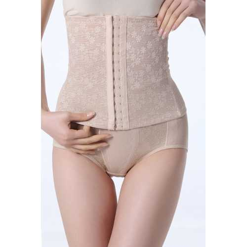 Wholesale Women Seductive Apricot Floral Print Slimming Corset